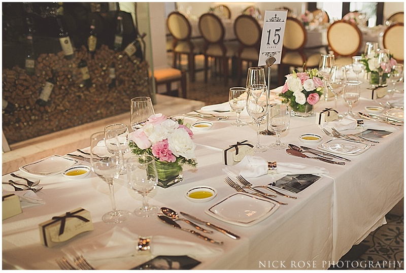 Alkaff Mansion table settings