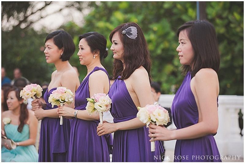 Singapore bridesmaids in purple