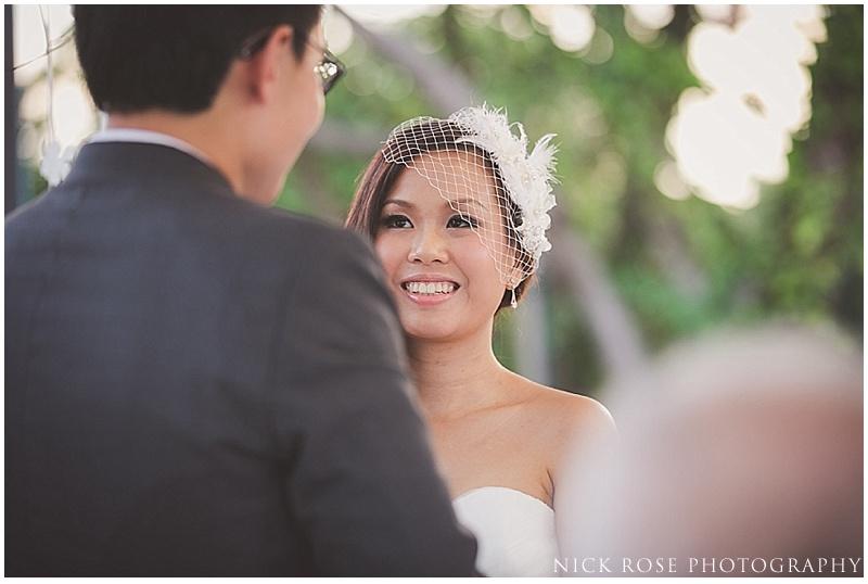 Wedding ceremony in Singapore