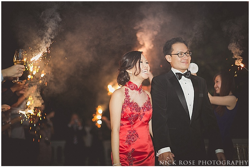 Singapore wedding sparkler exit