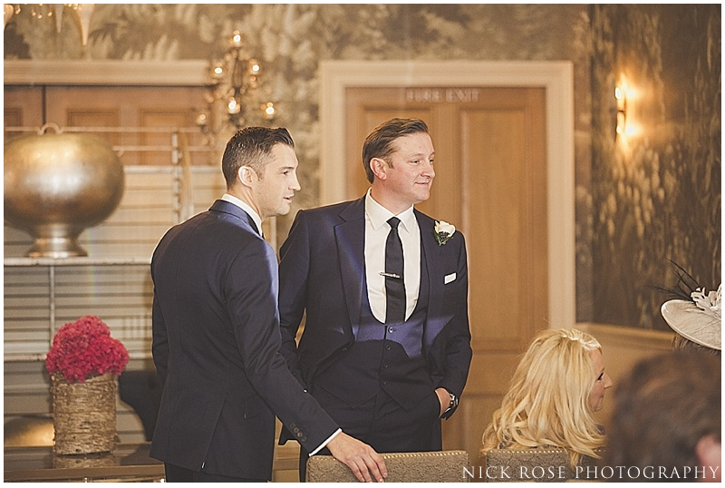 Wedding ceremony at Haymarket Hotel