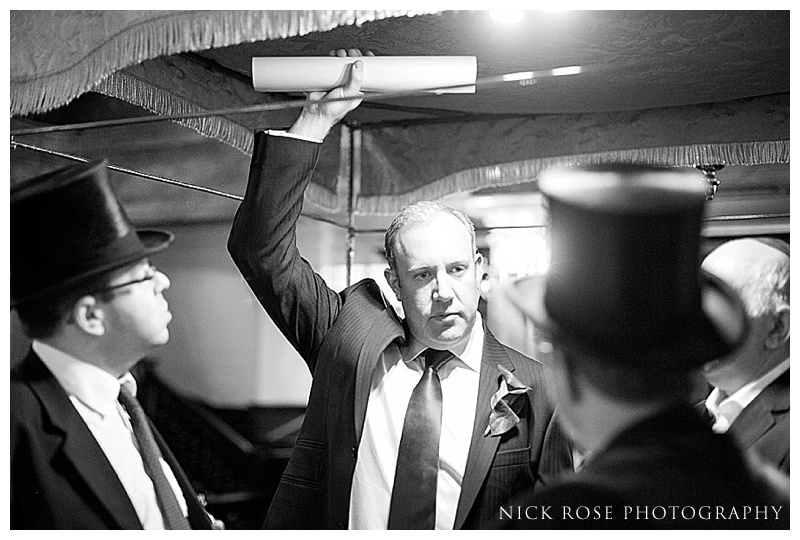 Bevis Mark Synagogue wedding photo