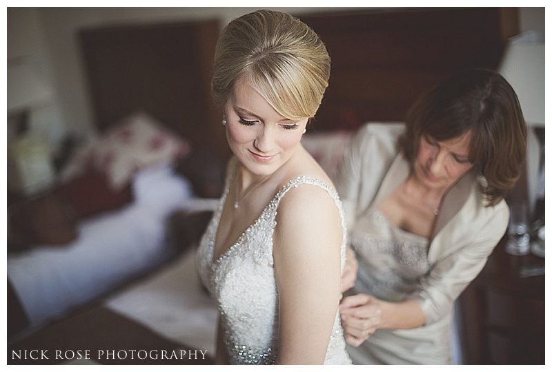 Bride getting ready at One Whitehall Place