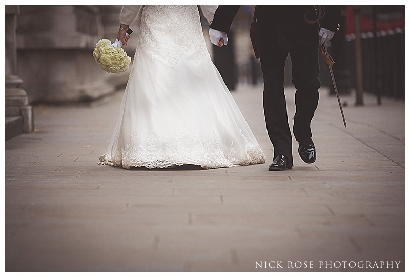 Bride and Groom at Horseguards Parade
