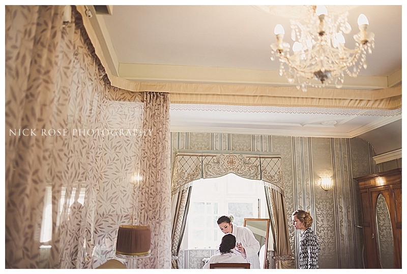 Manor House Hotel Castle Combe bridal preperation