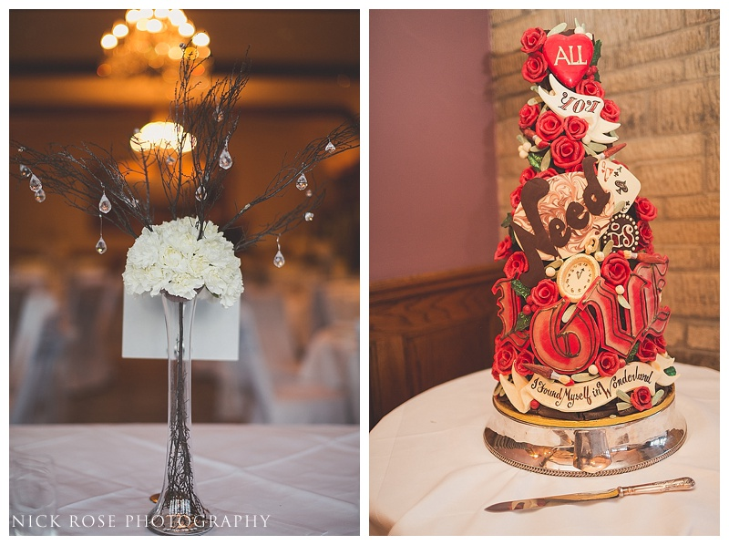 choccywoccydoodah Alice in wonderland wedding cake