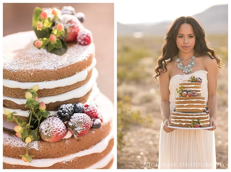 Wedding cake in the desert