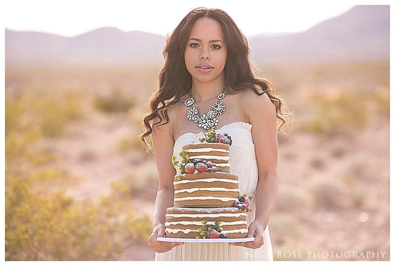 Nevada wedding photography cake