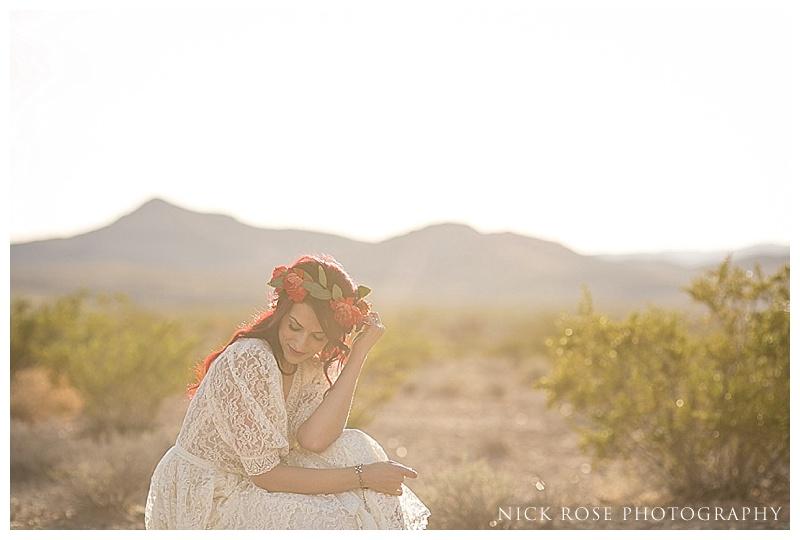 Bridal sunset photos in the desert