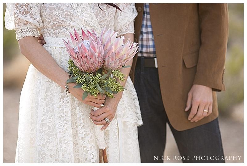 Bride and groom styled wedding shoot