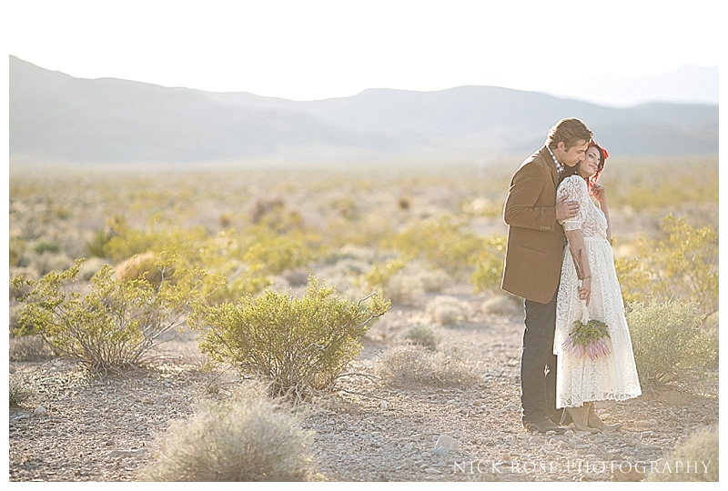 Wedding portraits in the desert