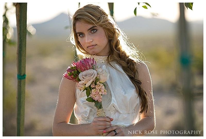Wedding bouquet for a desert wedding in Nevada