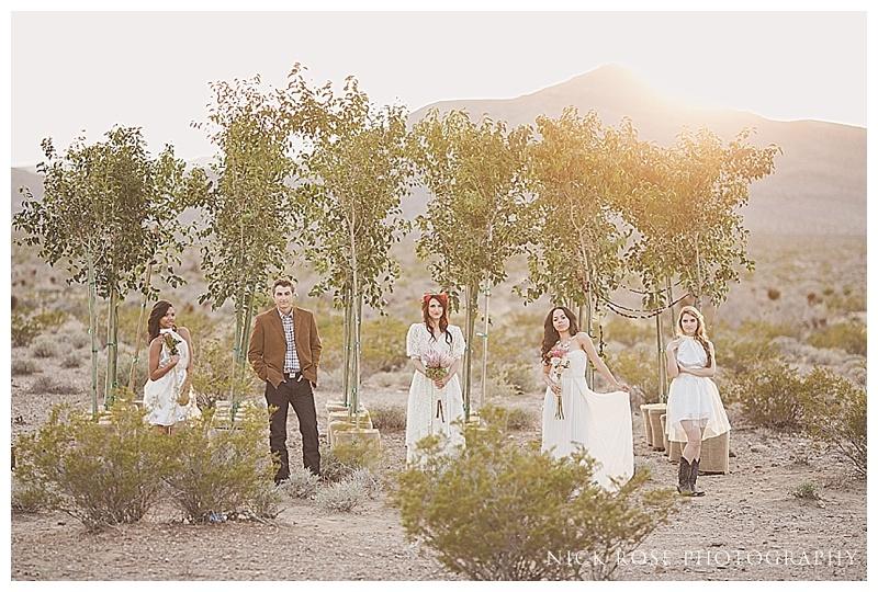 Wedding party in the Nevada desert