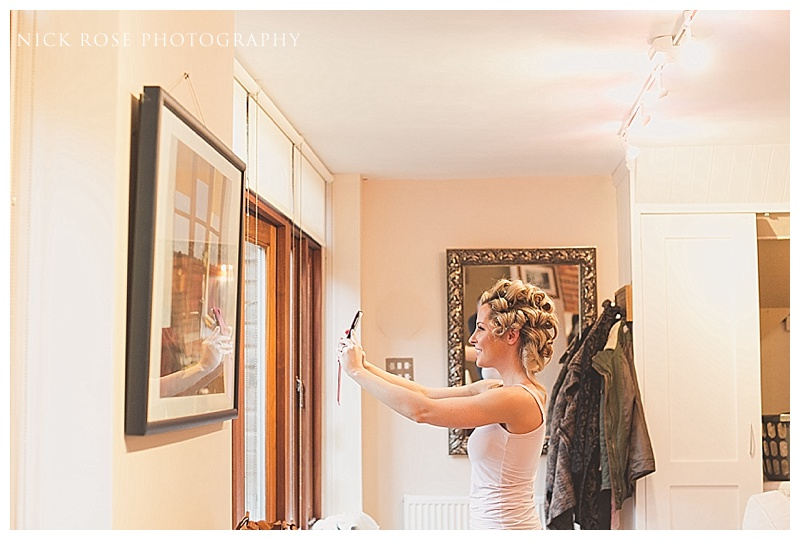 Bridal preparation at Ramster HAll