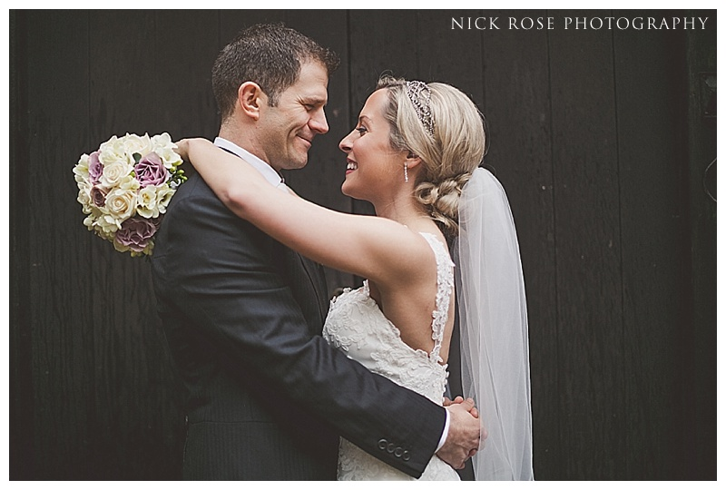 Ramster Hall Surrey bride and groom