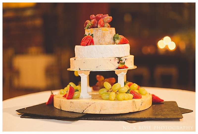 Wedding cake from cheese