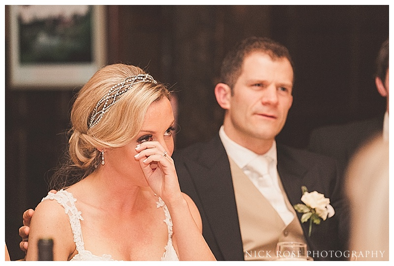 Wedding speeches at Ramster Hall