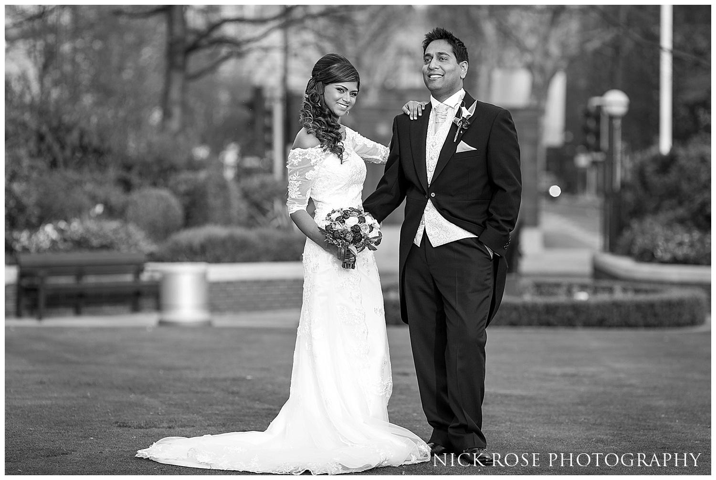 Canary Wharf bride and groom