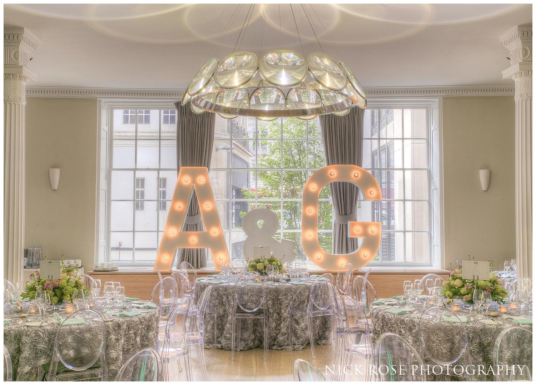 Wedding photography at RSA House London