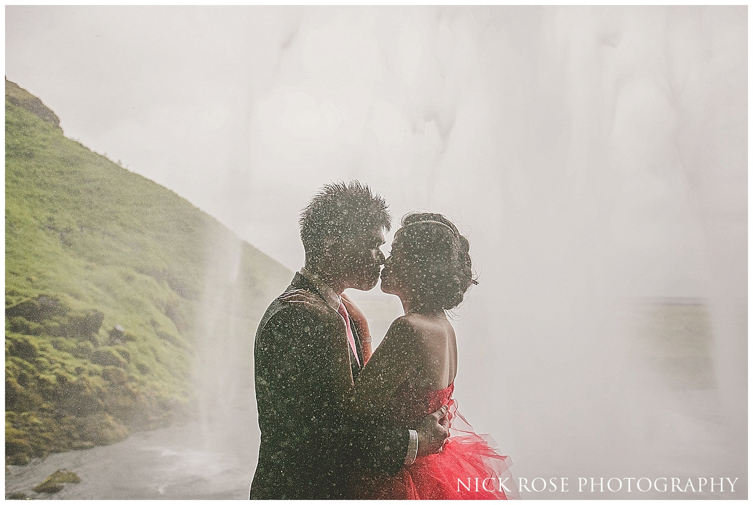 Seljalandsfoss wedding photography Iceland