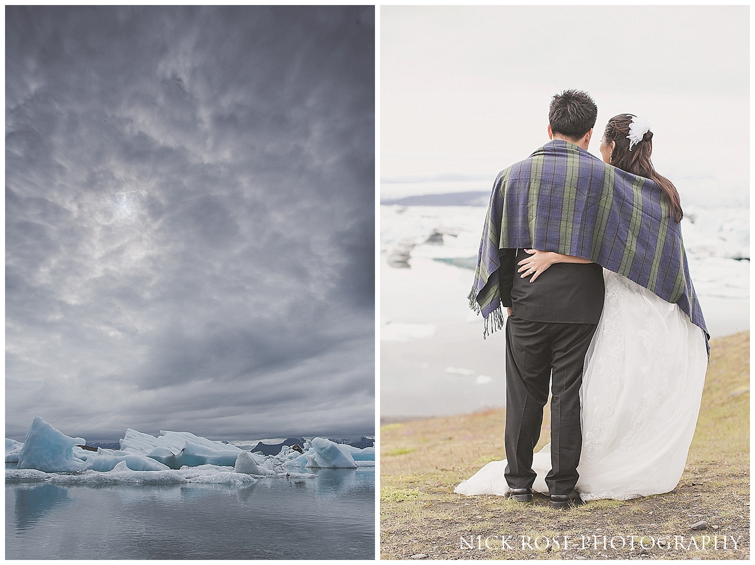Jokulsarlon Ice lagoon wedding Iceland