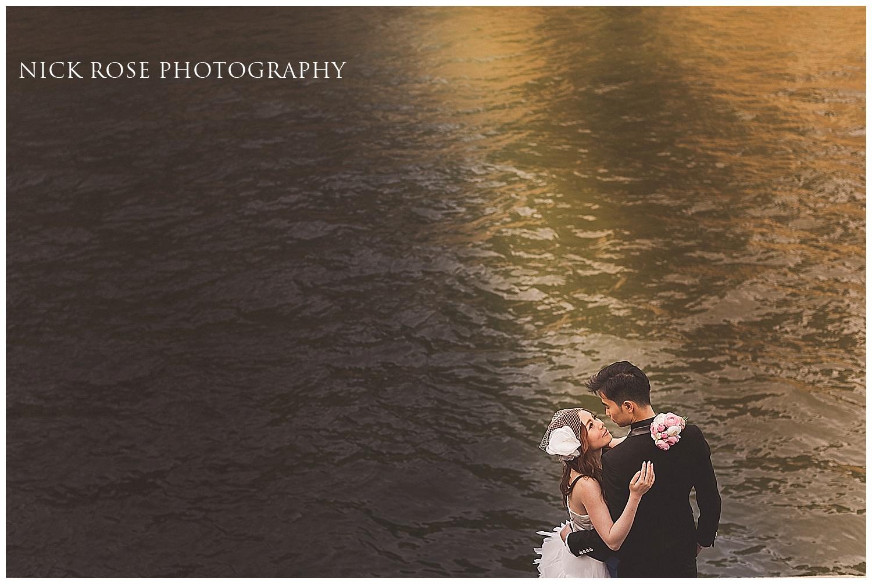 Pre wedding sunset in Paris