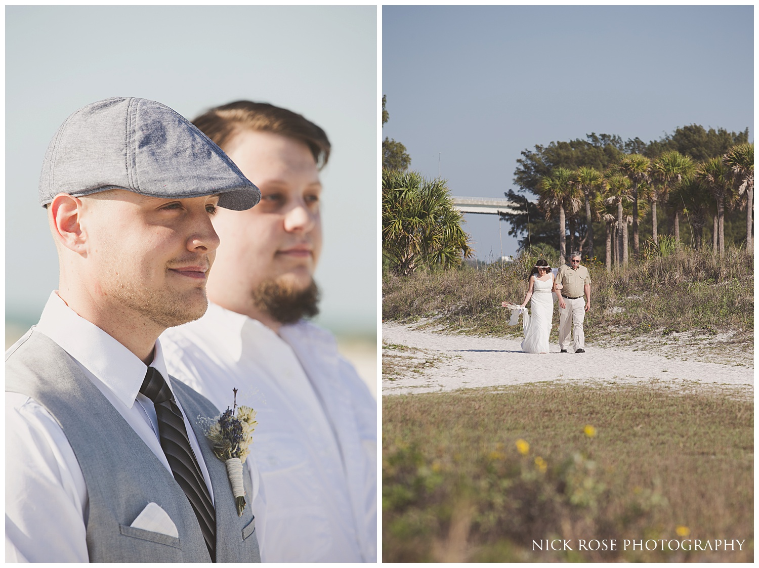 Beach wedding in Clearwater Florida
