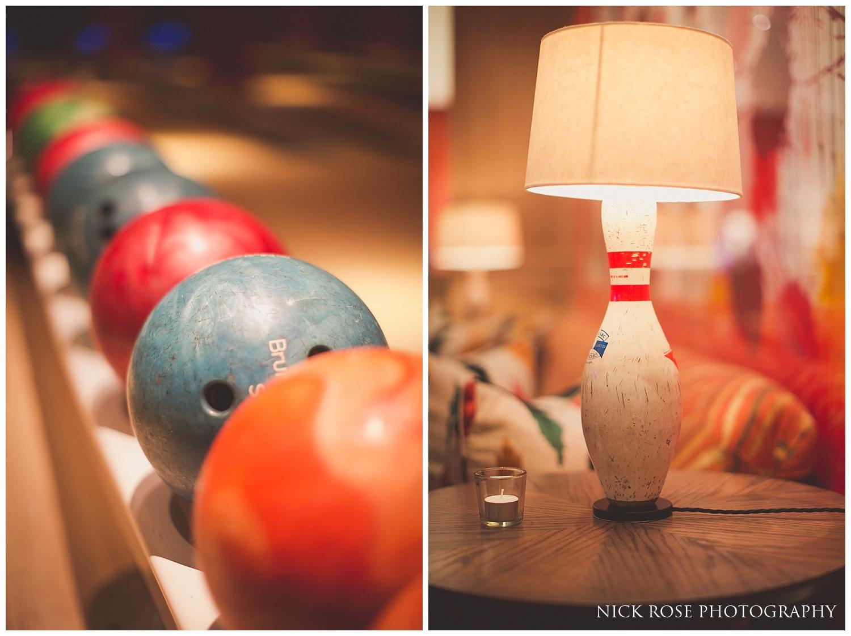 Ham Yard Hotel Bowling Alley Wedding