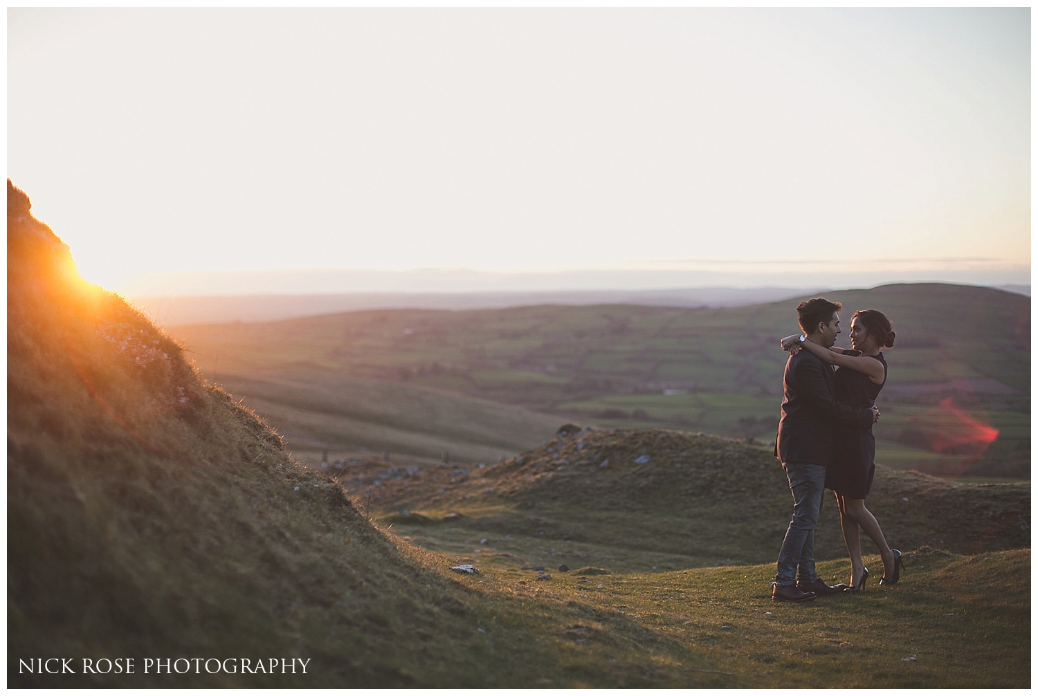 Asian pre wedding sunset photography Brecon Beacons
