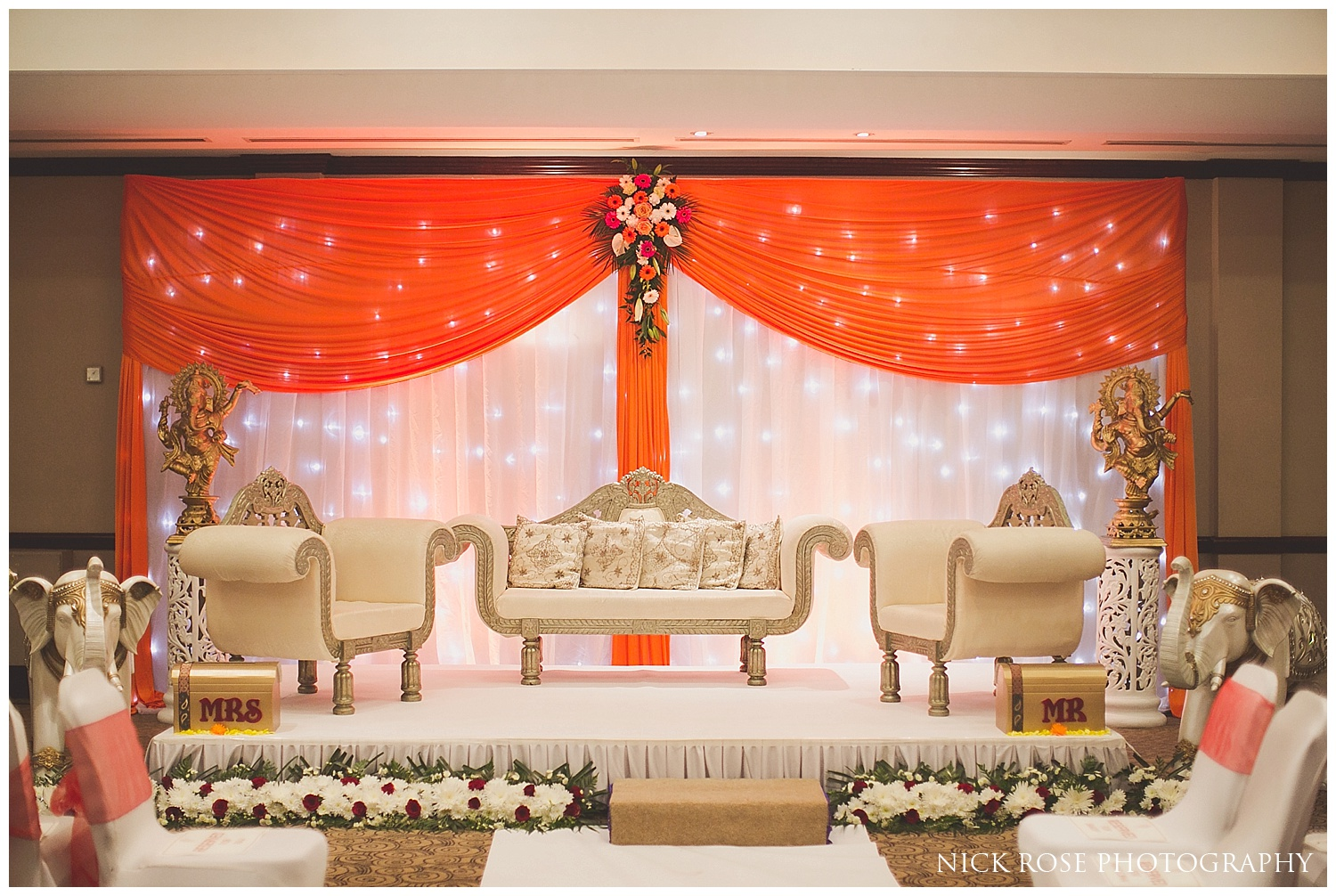 Hindu Wedding Chunni event photography Hertfordshire