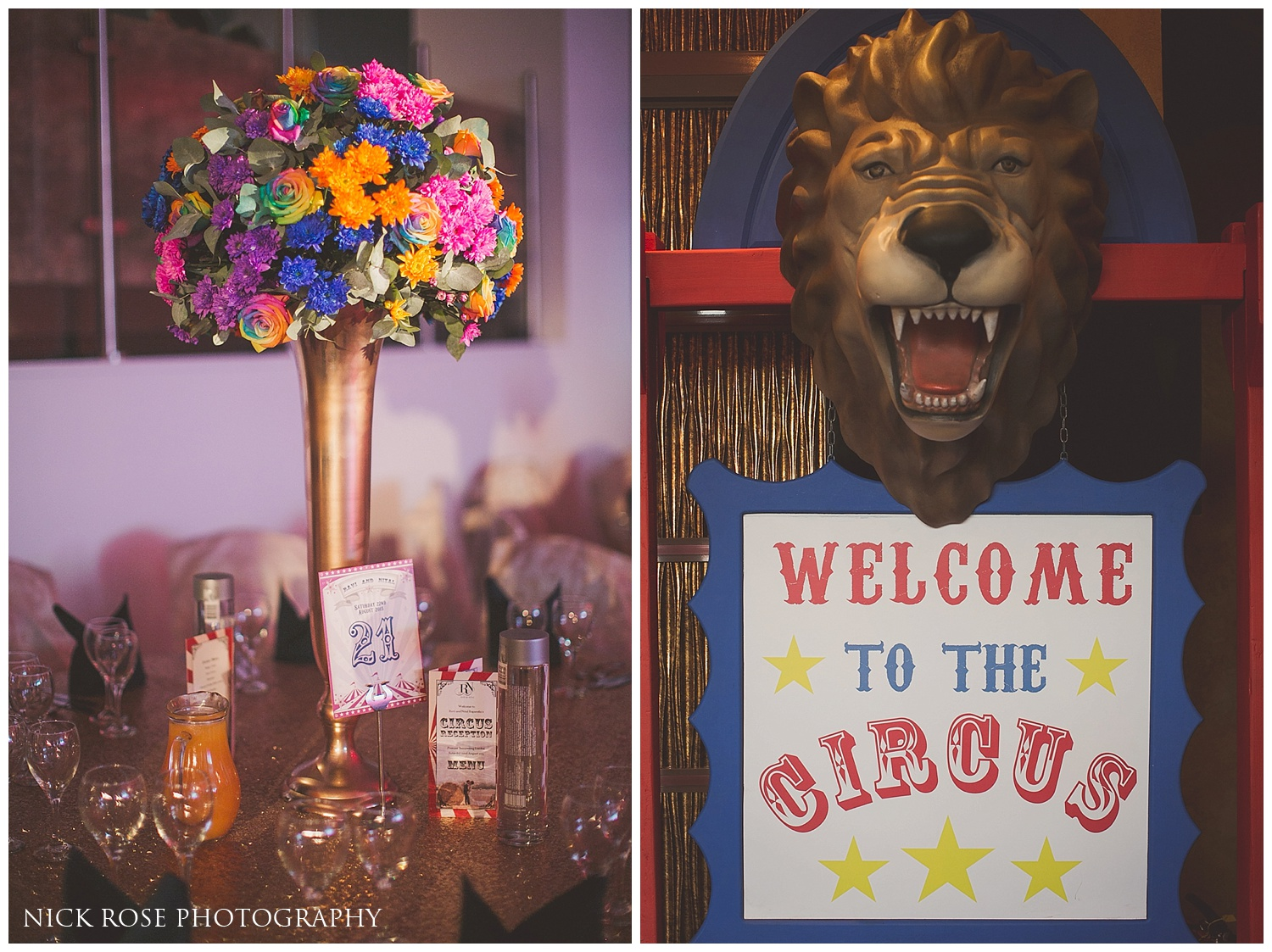 Circus Theme Asian Wedding Reception