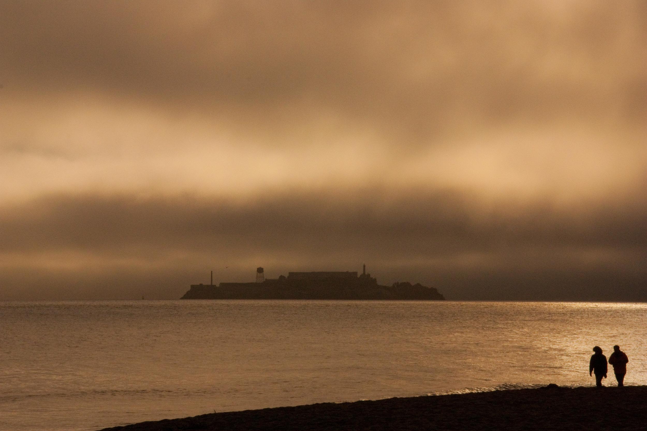 Storm over Alcatraz San Francisco California