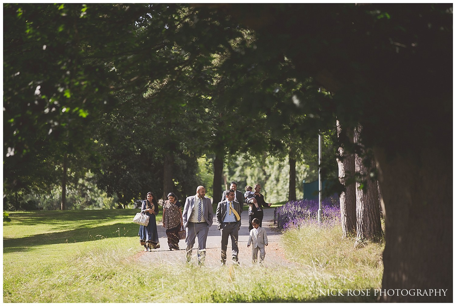 Guests arriving for a civil wedding at Hever Castle in Kent