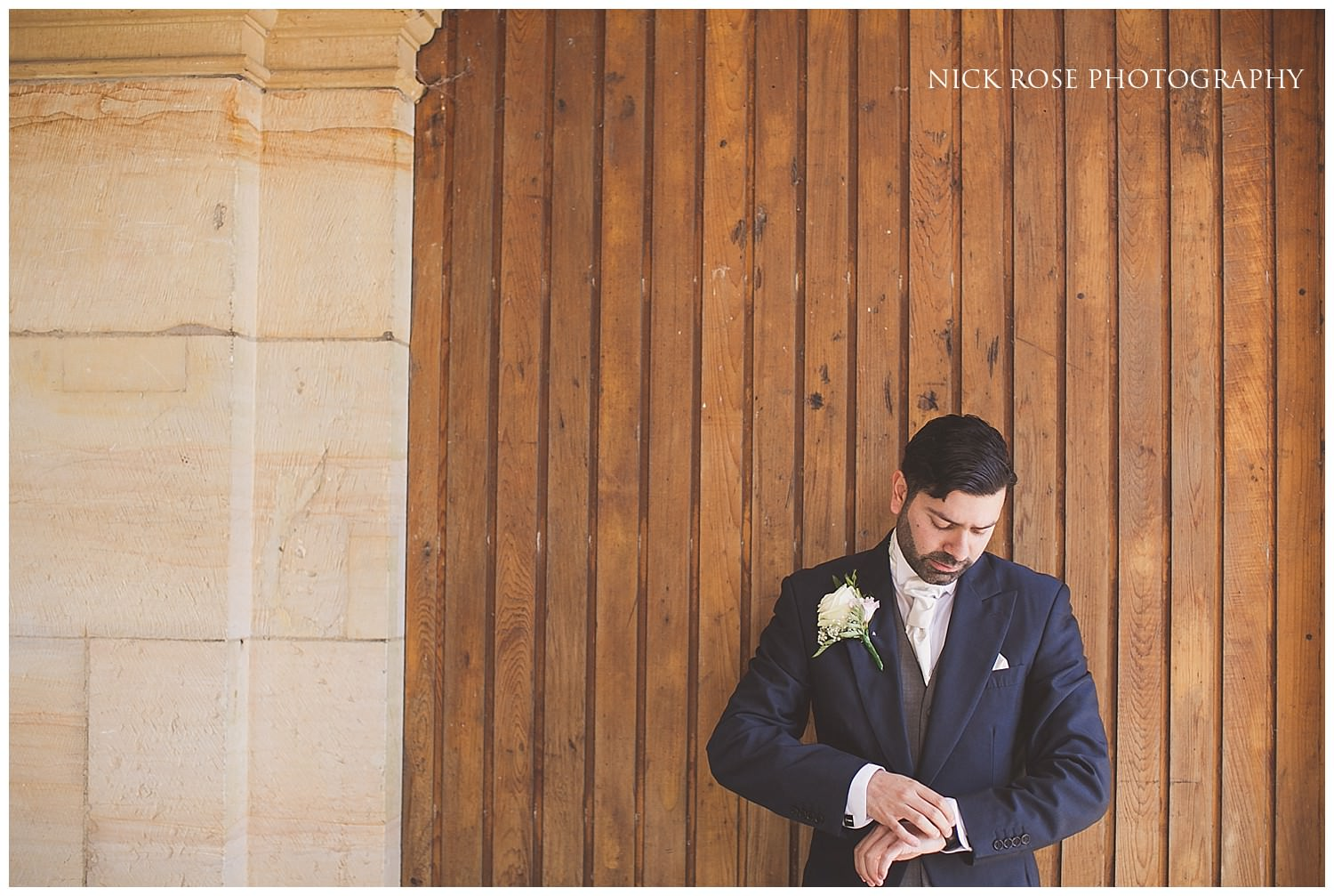 Indian Groom getting ready for a Hever Castle wedding in Kent