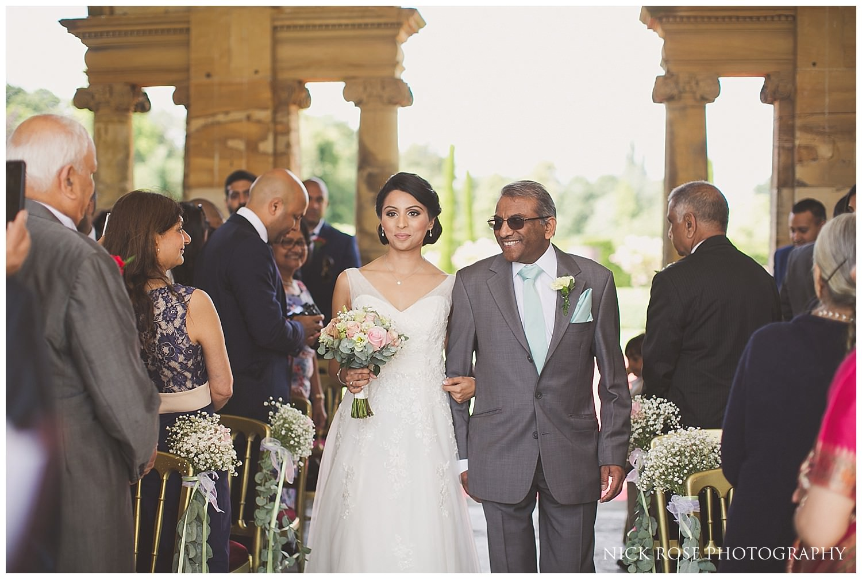 Bride entering a Hever Castle wedding