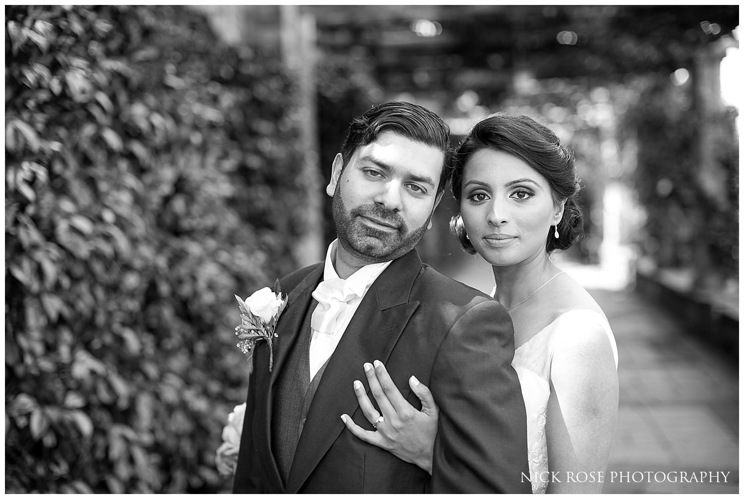 Bride and groom wedding photography portrait at Hever Castle Kent