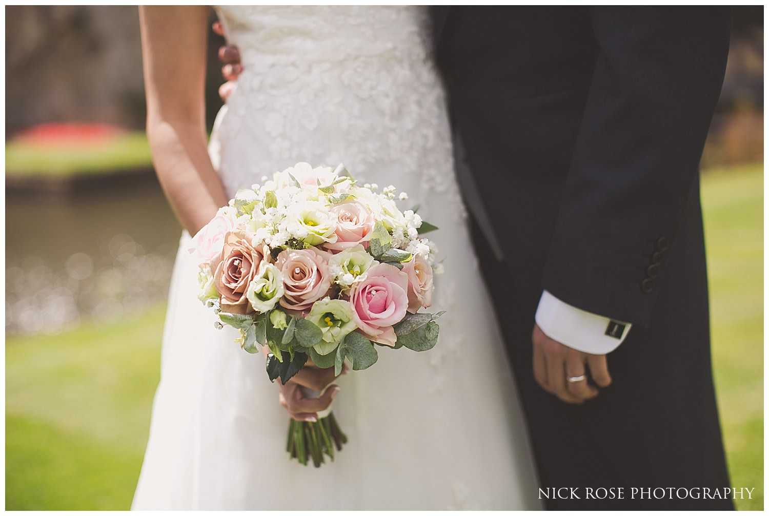Bride and groom wedding detail photograph at Hever Castle Kent