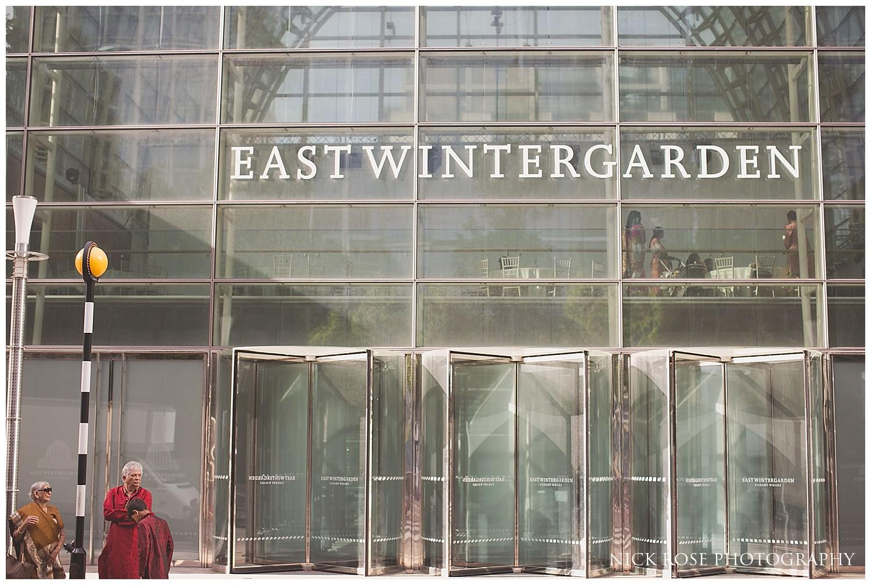 Hindu wedding venue East Wintergarden in Canary Wharf London