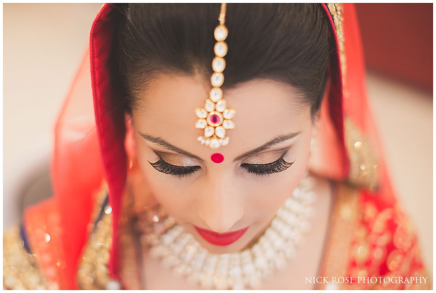Beautiful Indian bride before a Hindu wedding at and East Wintergarden wedding in Canary Wharf London