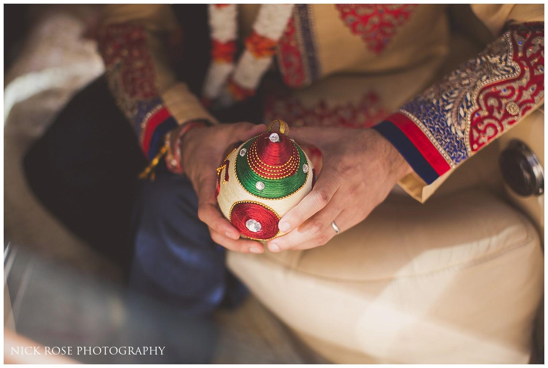 Hindu wedding ritual at Canary Wharf's East Wintergarden