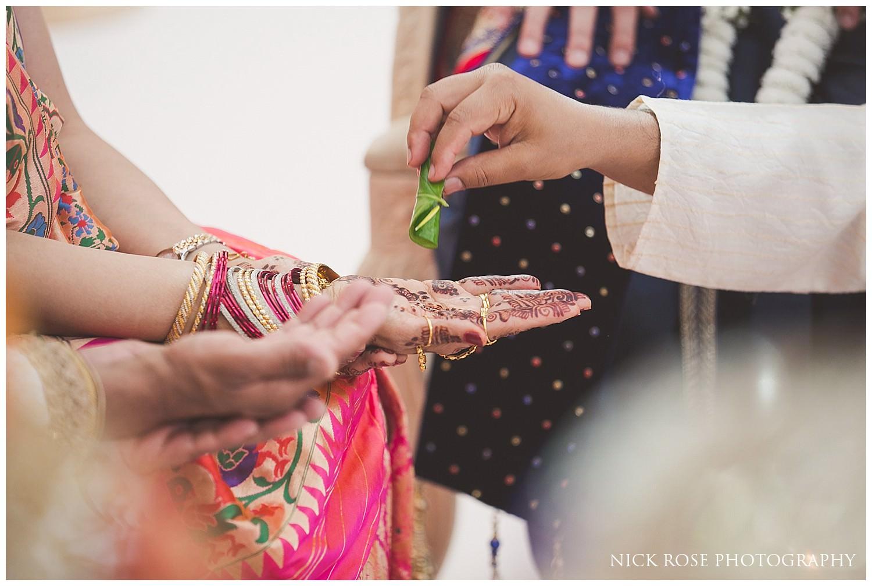 Hindu wedding rituals for an East Wintergarden Hindu wedding in Canary Wharf London