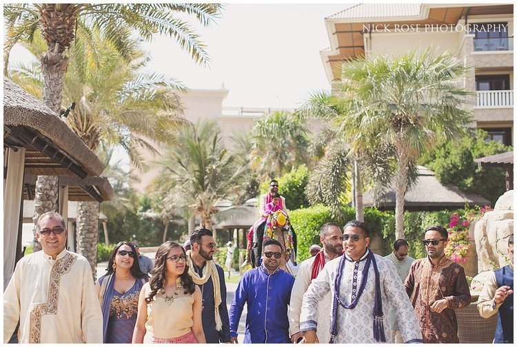 Hindu wedding Baraat in Dubai at the Sofitel Palm
