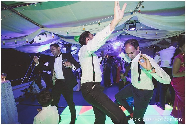 Fun on the dance floor during a Dubai destination wedding