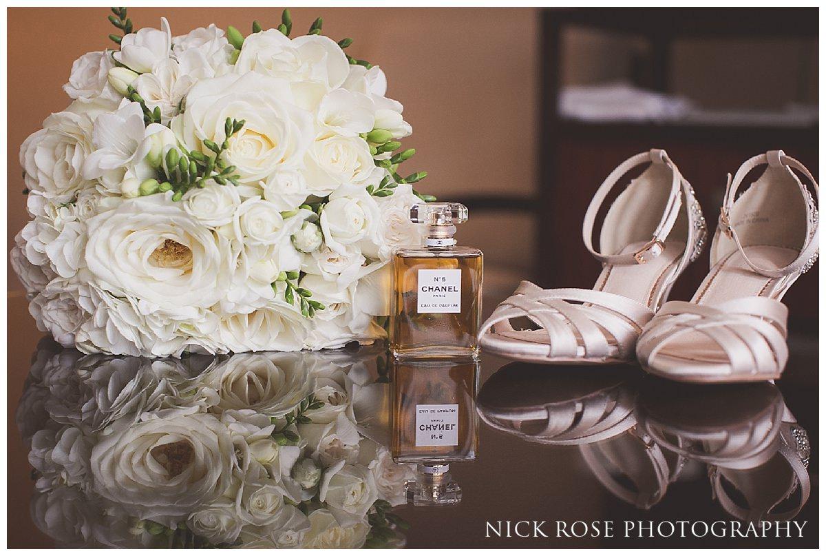 Bridal wedding preparation at Threadneedles Hotel in London