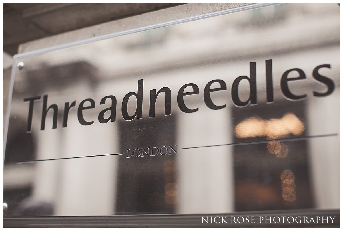 at Threadneedles Hotel in London