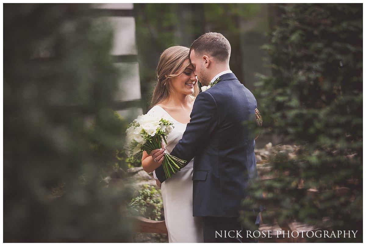 Romantic wedding portrait after a Hawksmoor Guildhall wedding in London