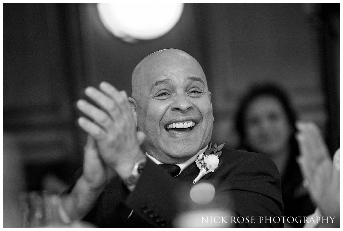 Guildhall London wedding reception photography