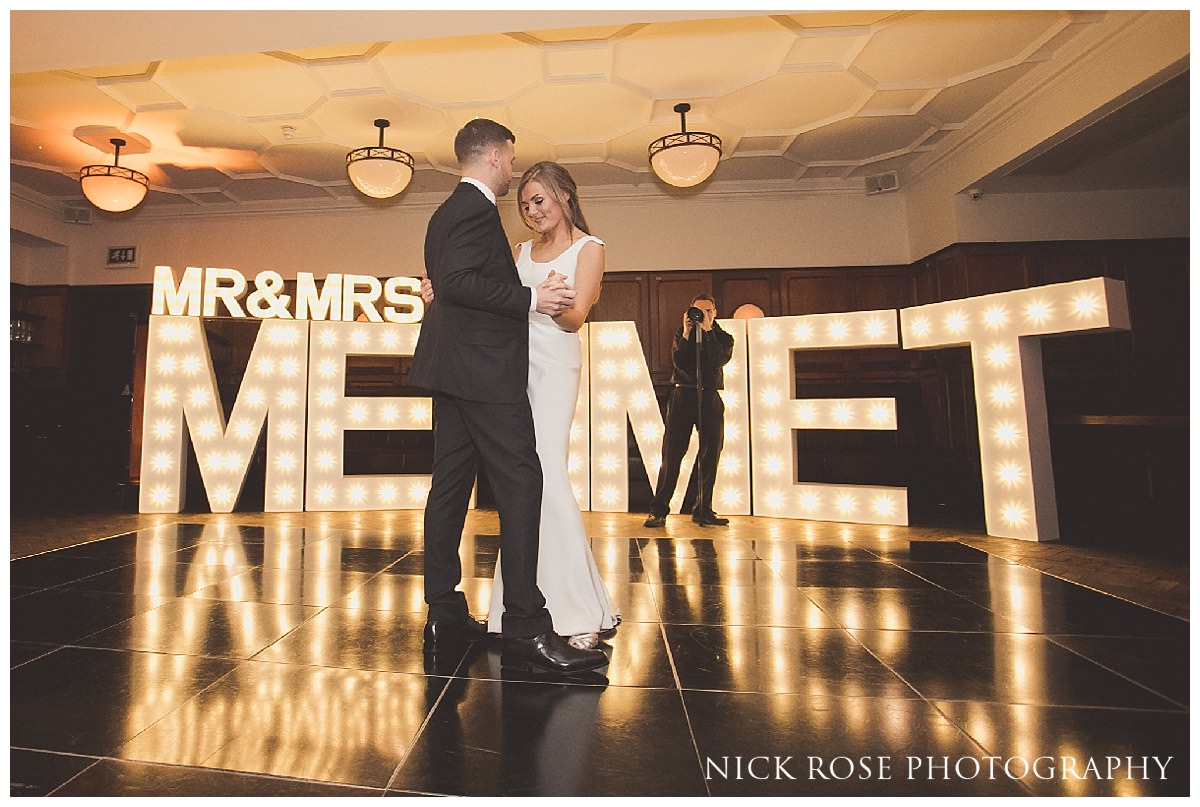 Bride and Groom first dance at Hawksmoor Guildhall London