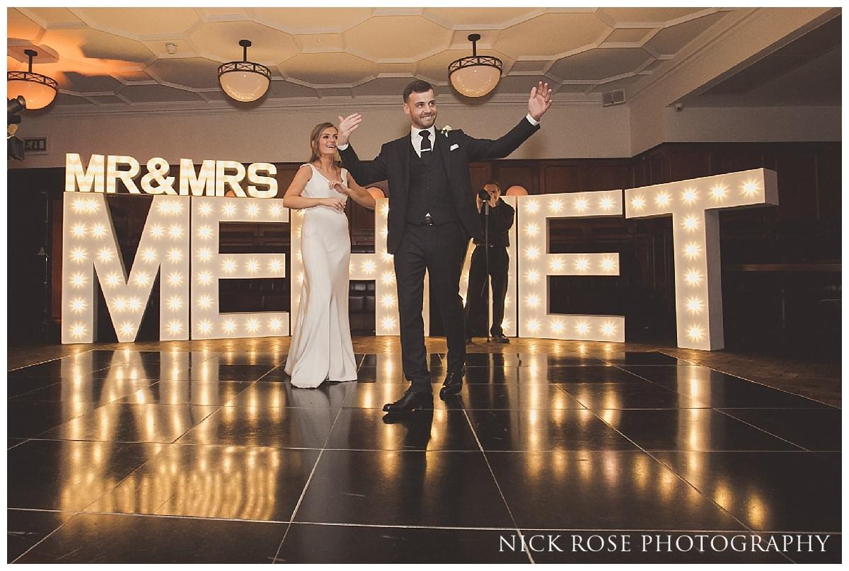 Bride and Groom wedding dance at Hawksmoor Guildhall