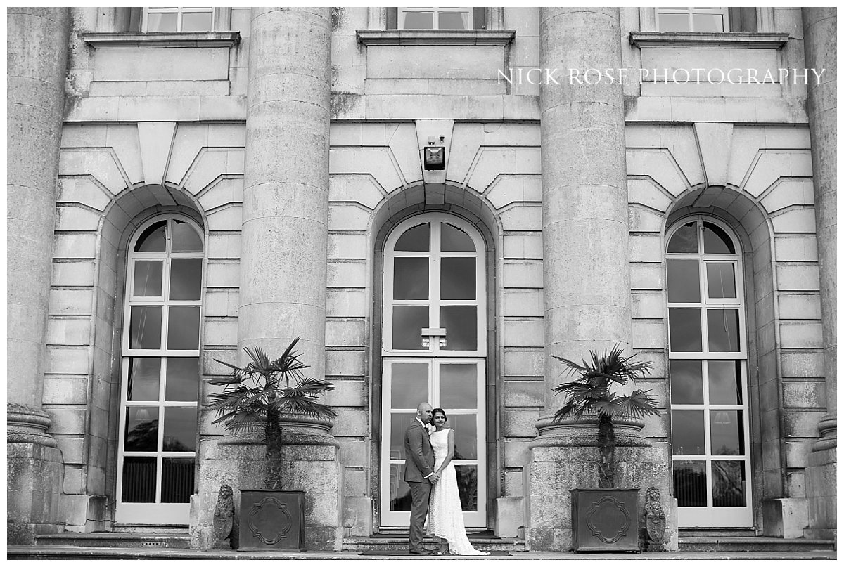 Indian bride and groom wedding photography portrait at Moor Park golf club mansion Rickmansworth